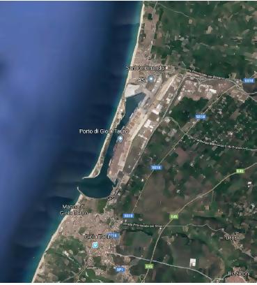 Mappa della posizione del porto